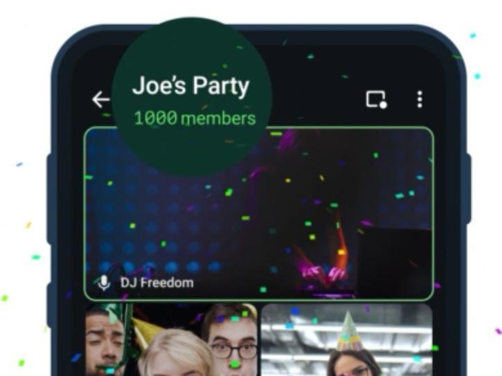 telegram 1000 members