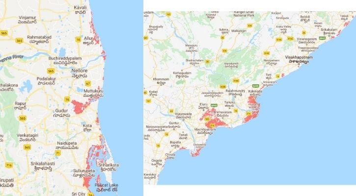 Andhra Pradesh submerged in water
