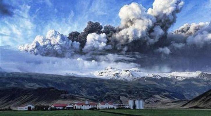ज्वालामुखी विस्फोट जलवायु परिवर्तन
