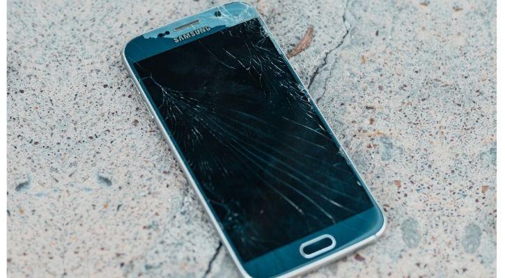 physically damaged phone