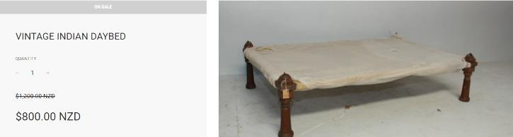 vintage indian bed from annabelle