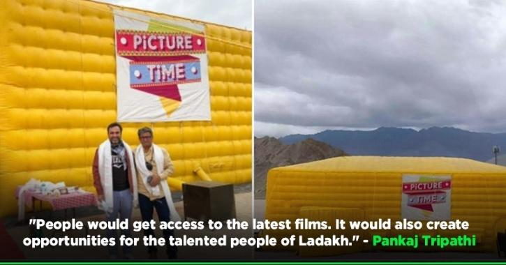 A mobile digital movie theatre company has installed an inflatable theatre in Leh (Ladakh), making it the highest altitude cinema theatre in the world.