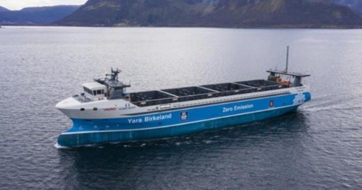 yara birkeland autonomous cargo ship