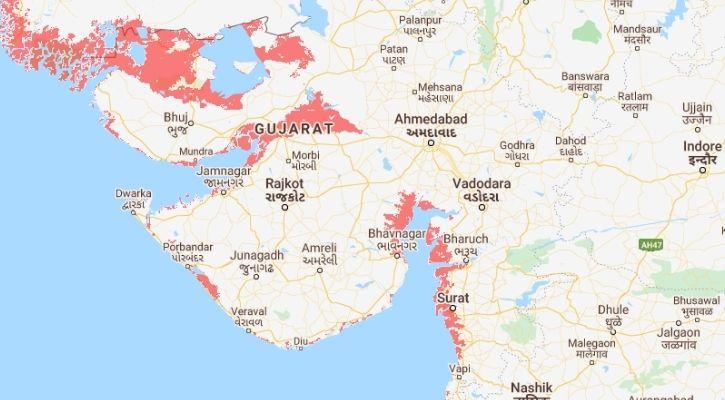 gujarat submerged in water in 2050