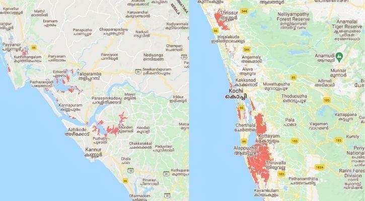 Kerala submerged in water