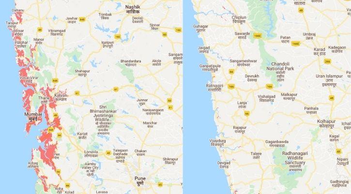 Mumbai submerged in water climate change