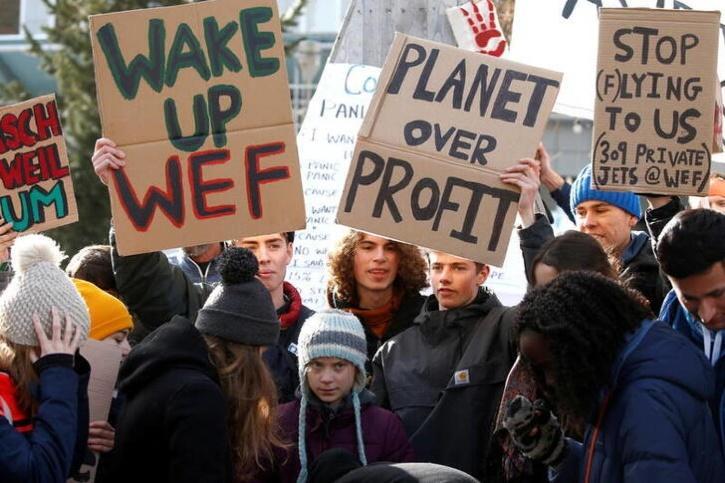 Climate activists protest against climate change