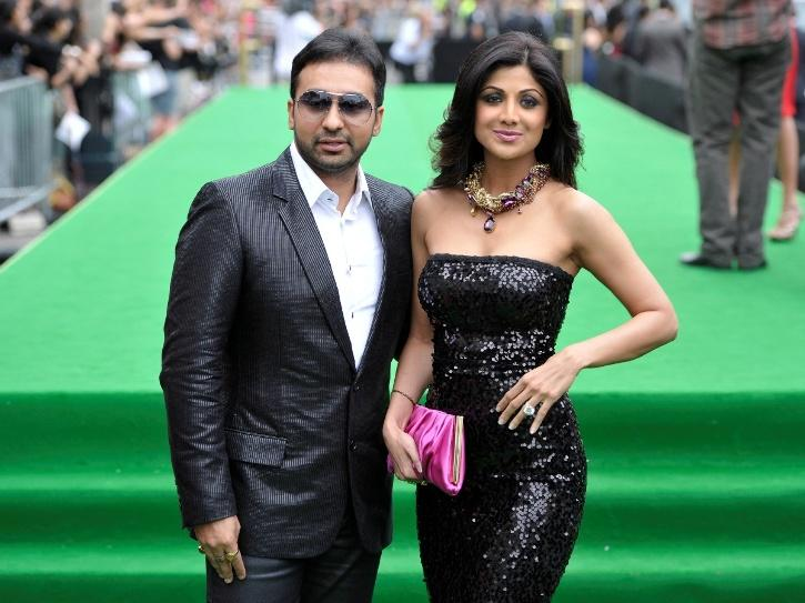 A photo of Raj Kundra and Shilpa Shetty.
