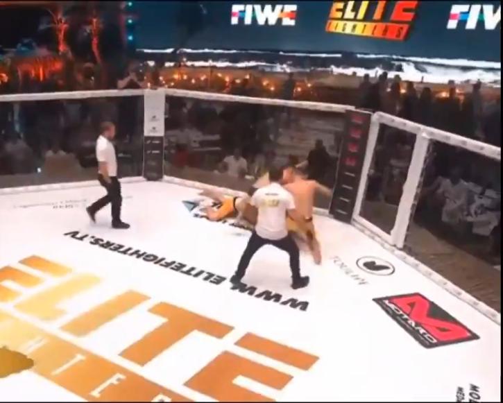 3 on 1 MMA fight