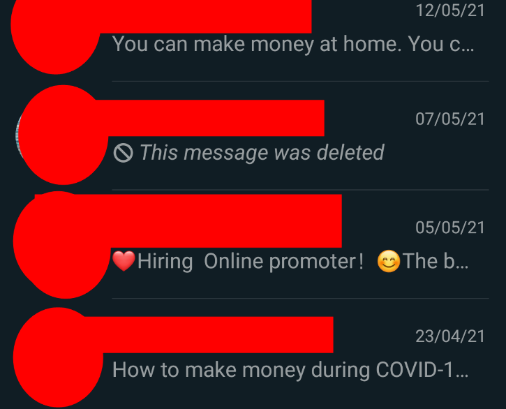 Earn from home scam