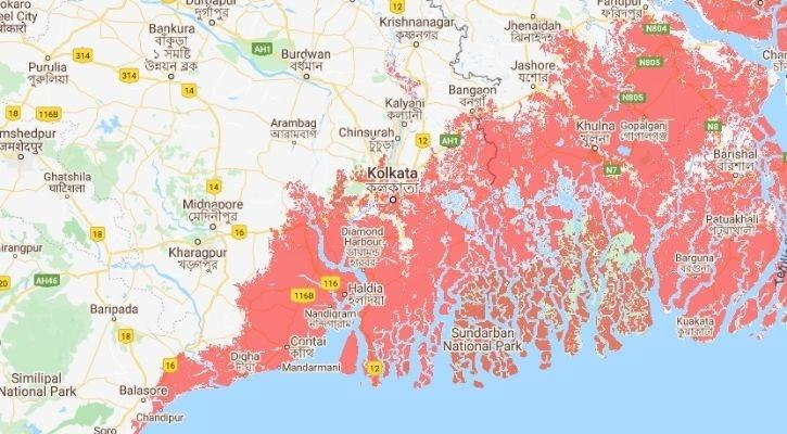 West bengal submerged in water