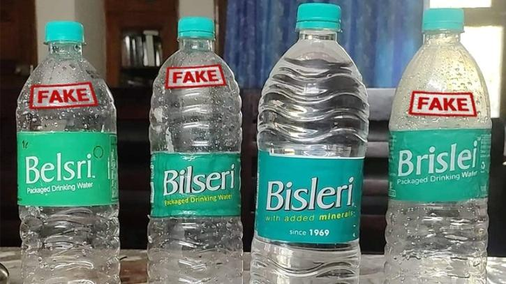 bisleri fake bottels