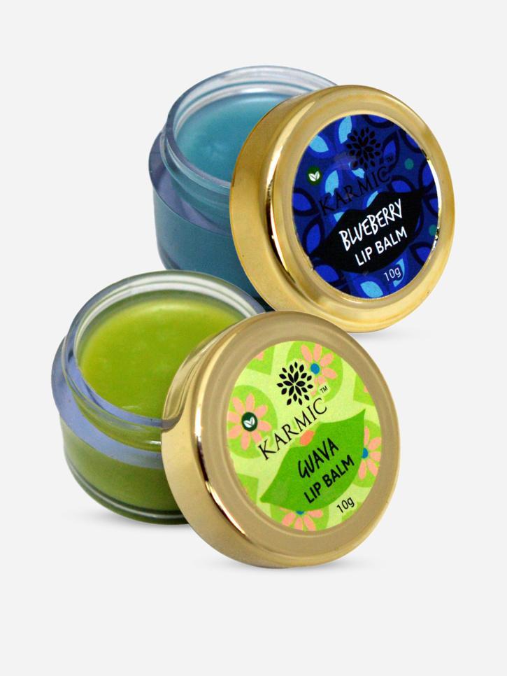 blueberry-and-guava-lip-balms-pack-of-2-Karmic cosmetics MensXP Shop