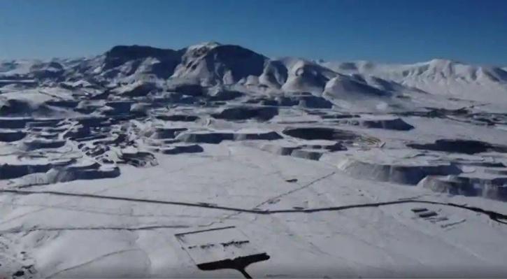 Snowfall in Chilean Atacama Desert