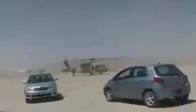 Taliban taxiing captured US-made helicopter