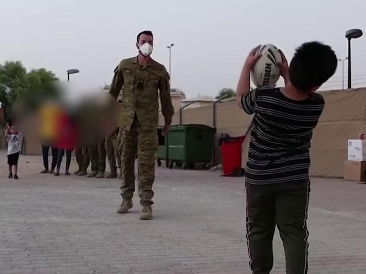 afghan kids playing football