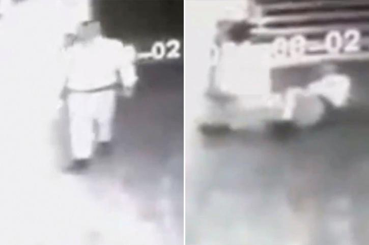 Mayor shares shocking video of 'ghost' attacking guard