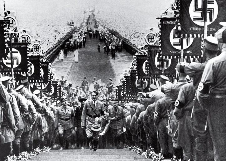 Hitler At A Nazi Party Rally, Heinrich Hoffmann, 1934