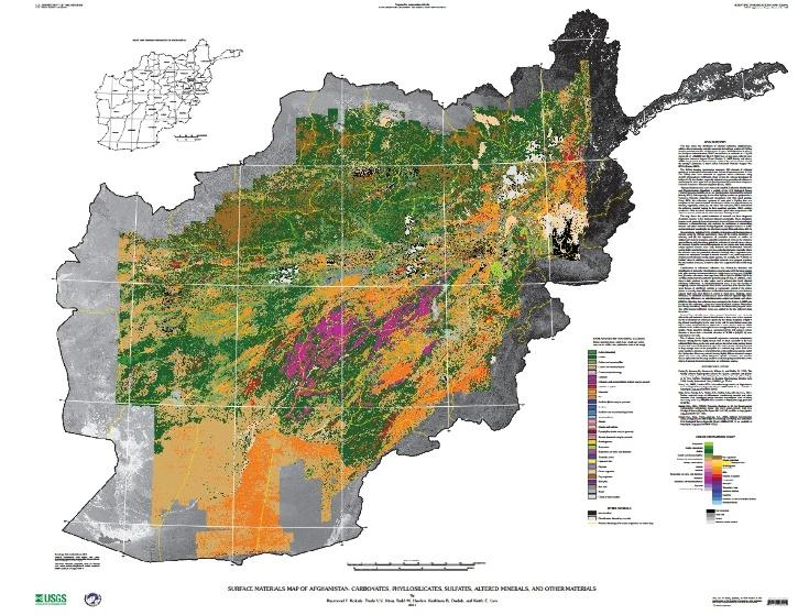 afghanistan mineral map