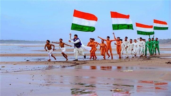 People celebrating India