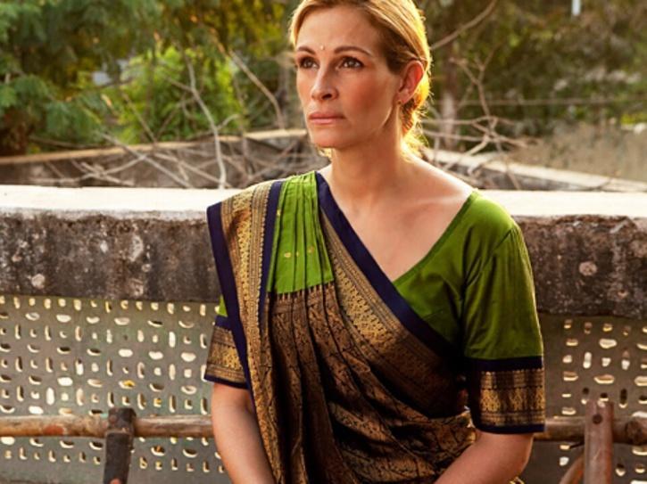 Julia Roberts in a saree.
