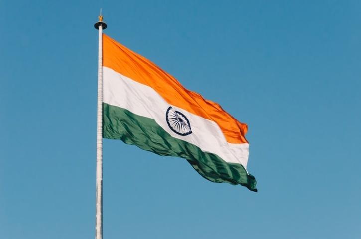 indian flag in delhi