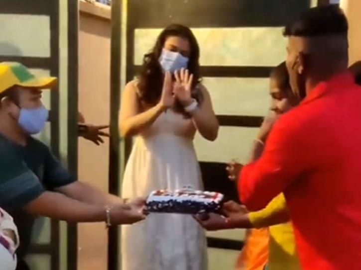 Kajol celebrating her birthday
