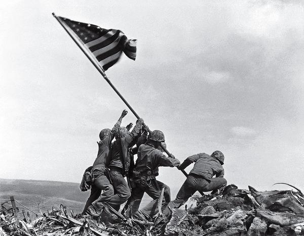 Raising the Flag on Iwo Jima by Joe Rosenthal, 1945