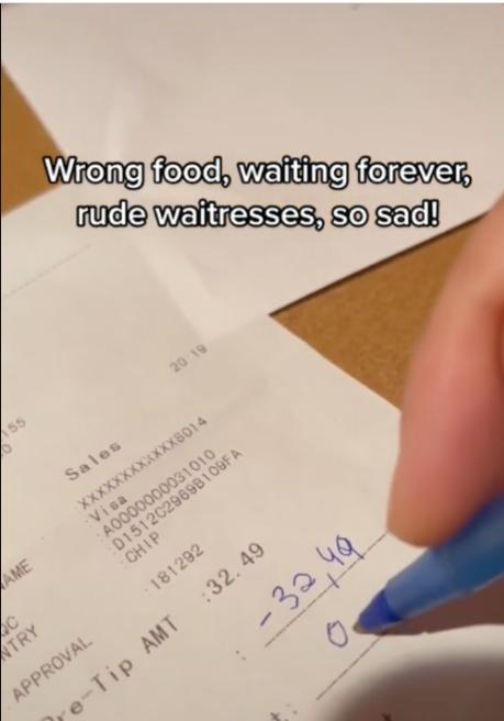 guy writes a negative tip