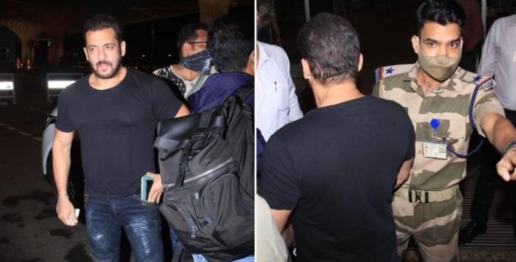 Like always, fans had something to point out! As soon as the video with Salman making an entry in the airport surfaced, netizens quickly noted out how CISF official posted at the entrance stopped Khan so that he could confirm his identity.