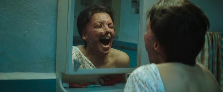 Malti's breakdown scene when she sees her deformed face for the first time in the mirror