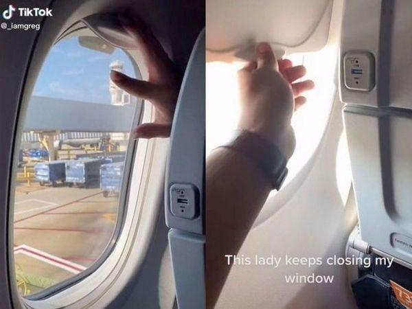 man gets into battle with another passenger over window shade