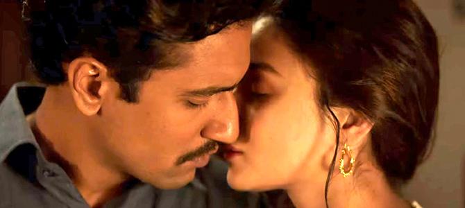 Vicky Kaushal and Alia Bhatt in Raazi / Netflix India