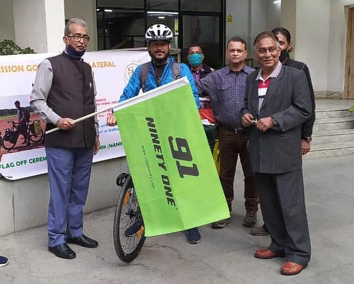 Philem Rohan Singh Cycling For Humanity