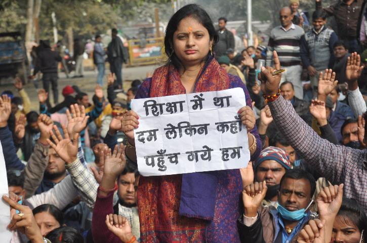 Bihar Jobs Protest