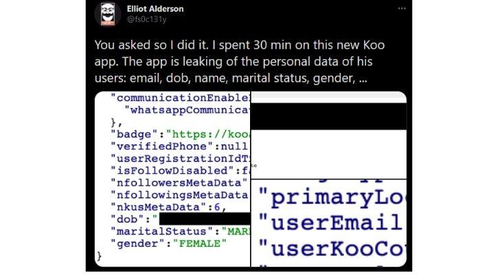 Koo App Elliot Alderson Tweet