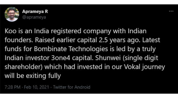 Koo App Indian Twitter clone