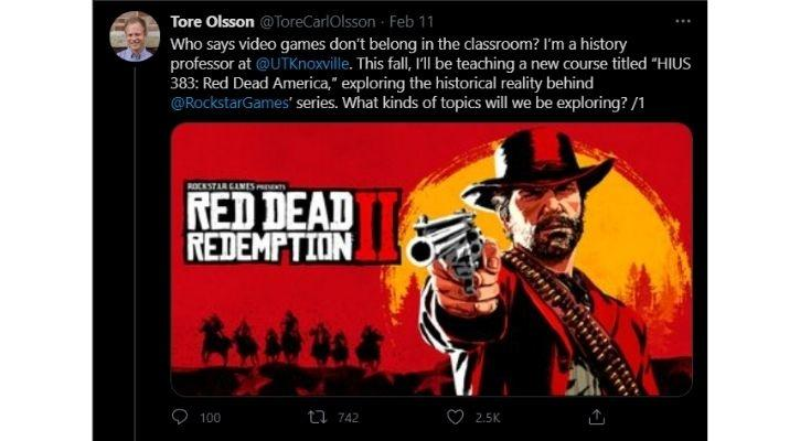 red dead redemption 2 history course university