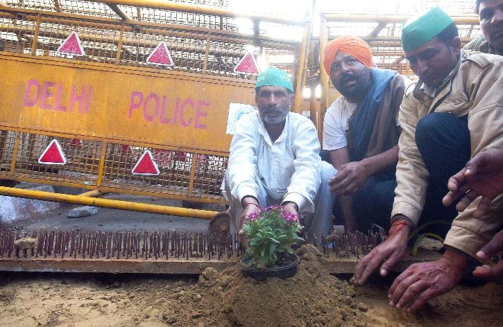 Farmers Protest Flowers