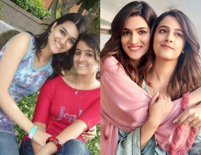Before and After pictures of Kriti and Nupur Sanon / Instagram