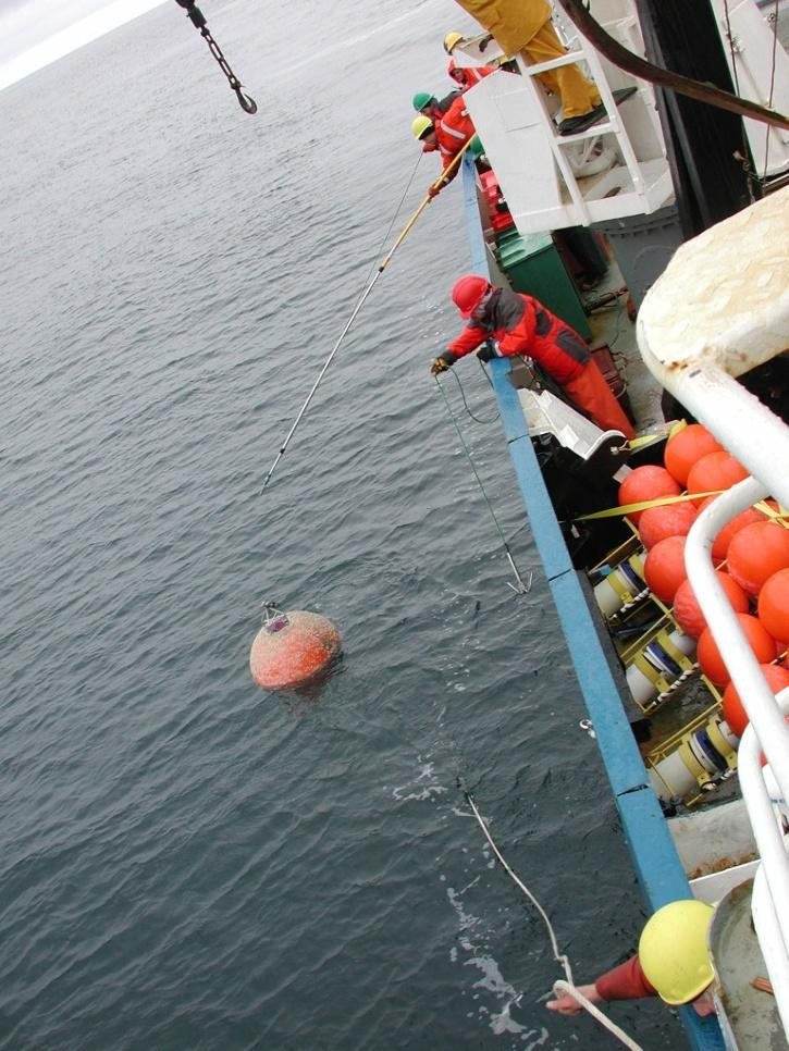 Clung on to fishing buoy for hours before he was rescued.