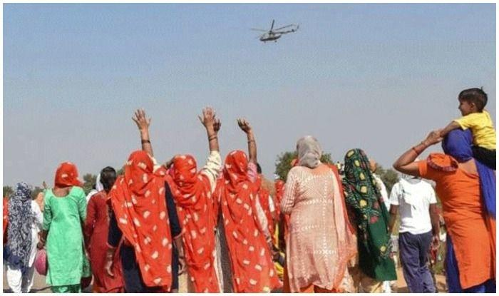 The helicopter was sent to his village for trial, and Janardhan offered village panchayat members to take a ride in his helicopter