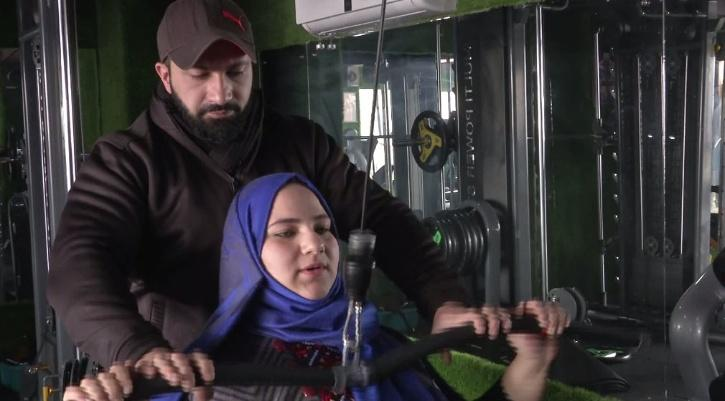 Saima said her husband Ubaiz Hafiz, who is also a power-lifter, trained her and helped her win the medal.