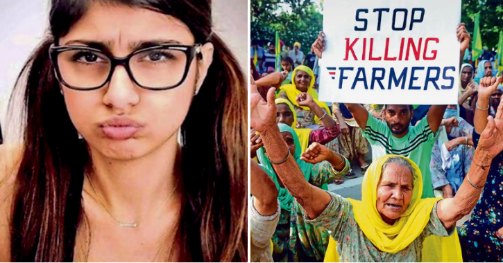 All You Need To Know About Mia Khalifa, Former Porn-Star Who Extended Support To Indian Farmers