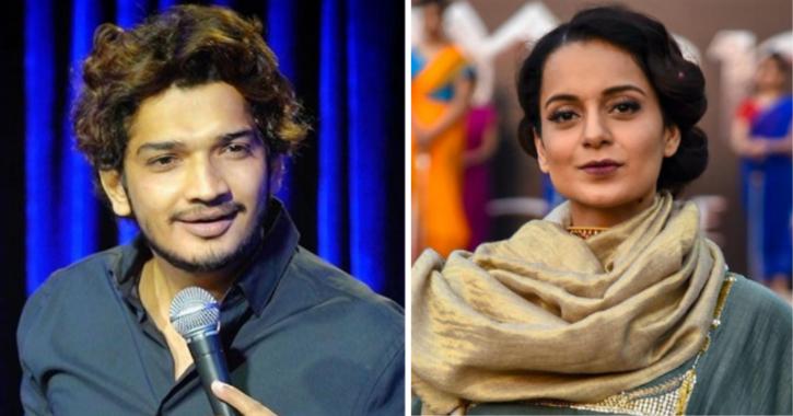 In His First Tweet Post Bail, Comedian Munawar Faruqui Cracks Joke At Kangana Ranaut