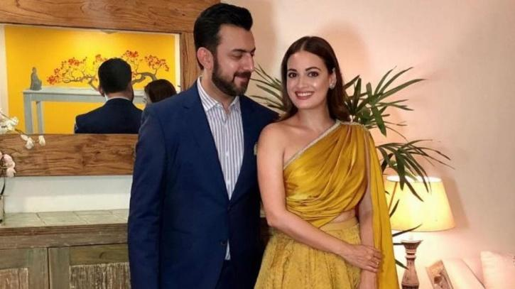 Dia Mirza with her former husband Sahil Singha / Dia Mirza Instagram