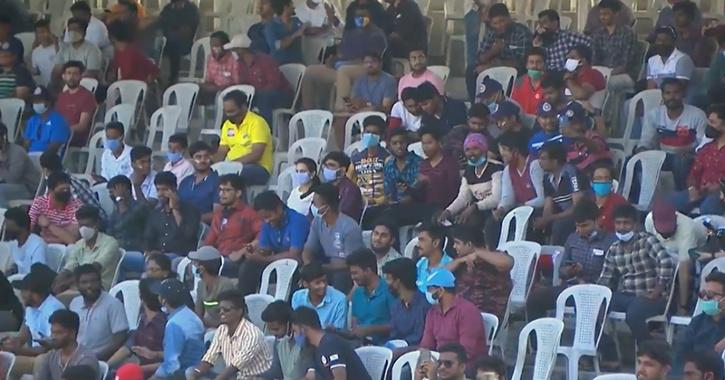 Crowds at chepauk stadium
