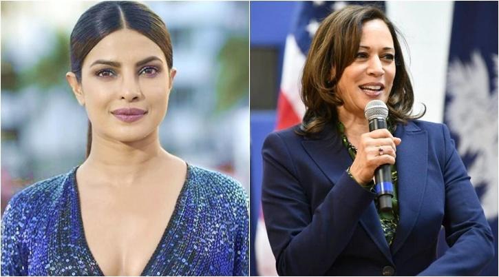 Priyanka Chopra and Kamala Harris / Indiatimes