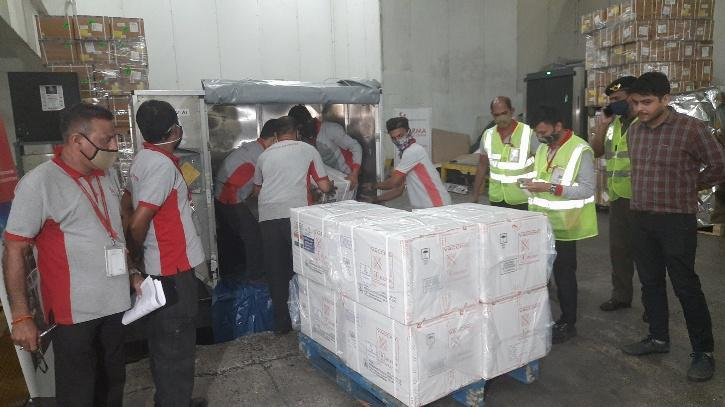 vaccine being shipped