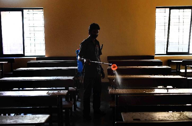 Schools being sanitised